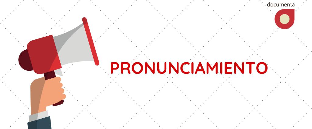 """Imagen ilustrativa con un altavoz y la palabra """"pronunciamiento"""""""