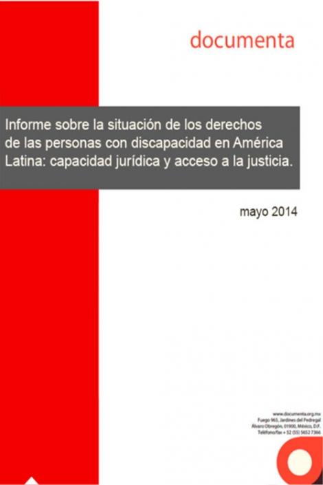 Portada del Informe sobre la situación de derechos de las personas con discapacidad en América Latina: capacidad jurídica y acceso a la justicia 2014